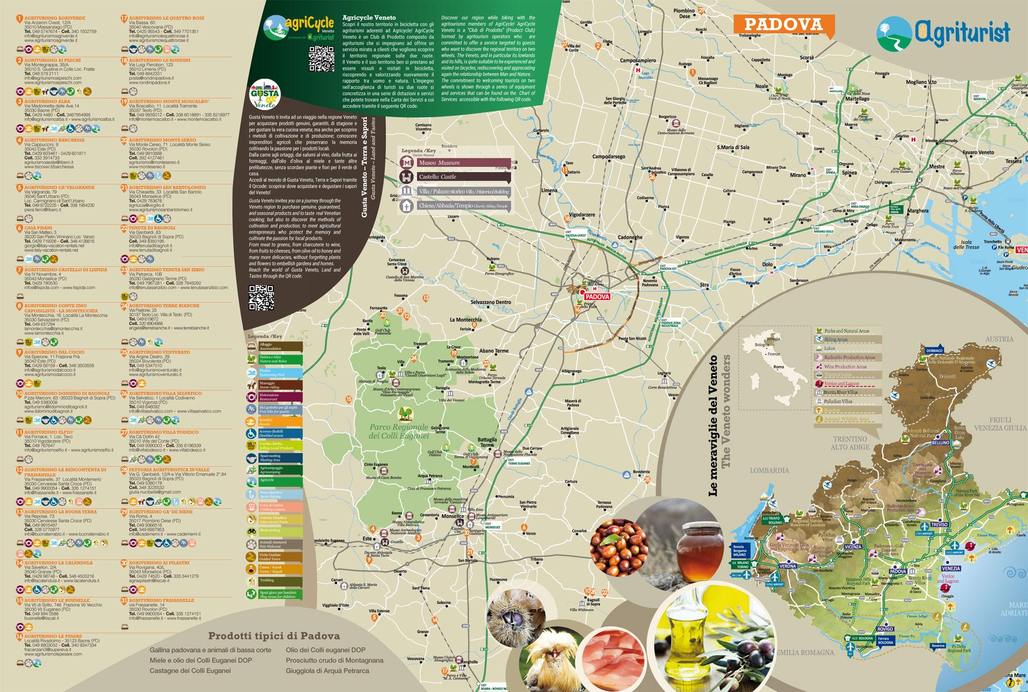 Mappa Liscia Associazione Agriturist Padova