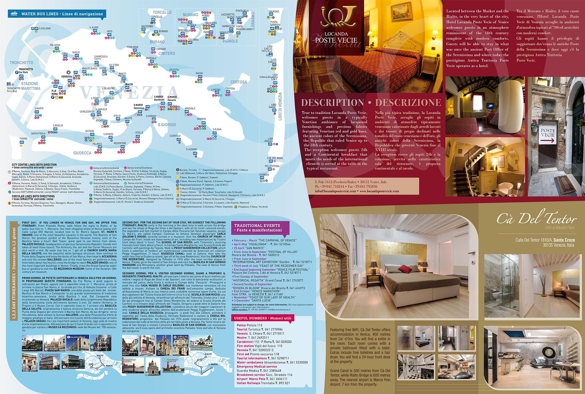 Mappa Liscia Locanda Poste Vecie e Cà del Tentor Venezia