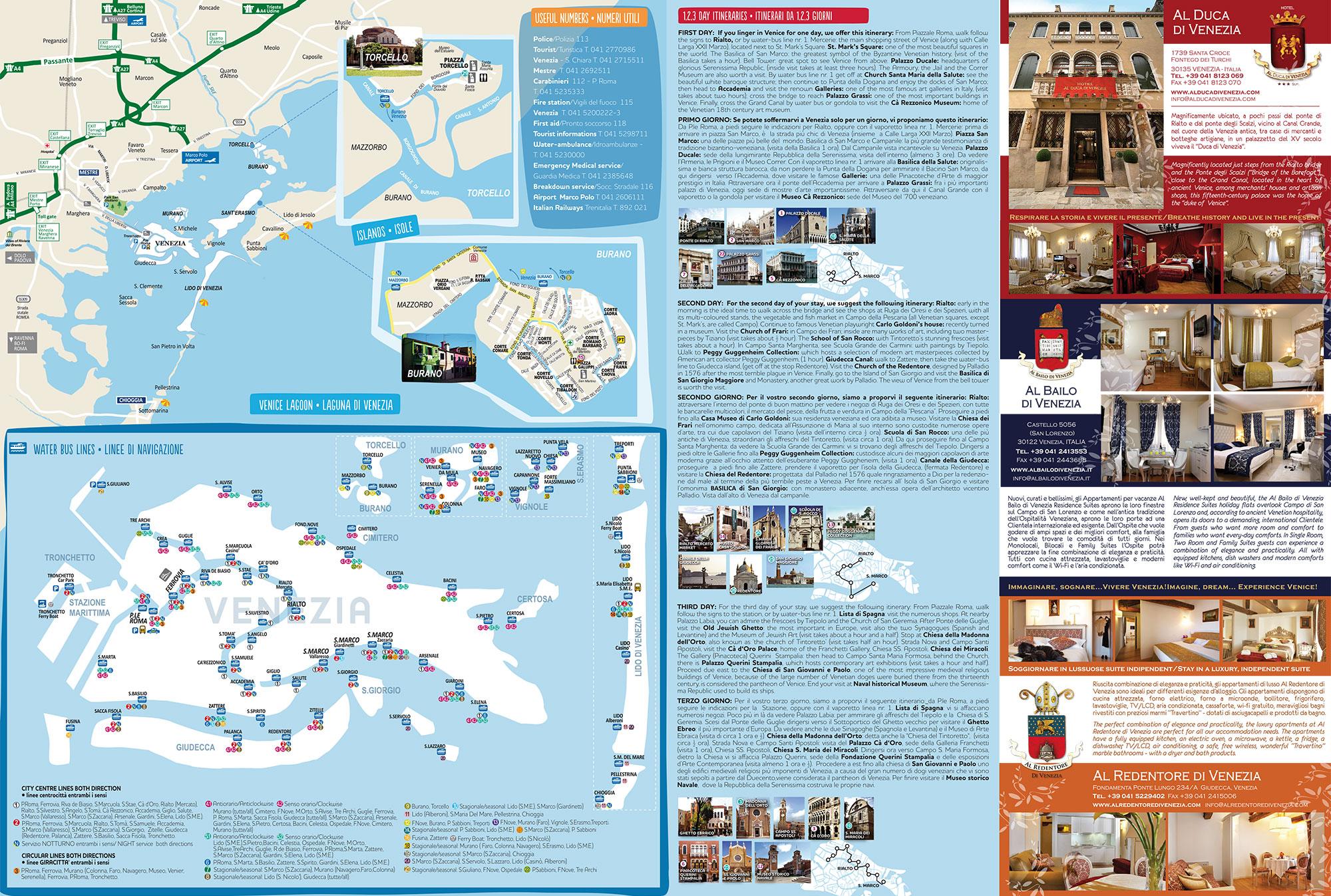 Mappa Liscia Hotel Al Duca di Venezia, Al Bailo e Al Redentore Venezia