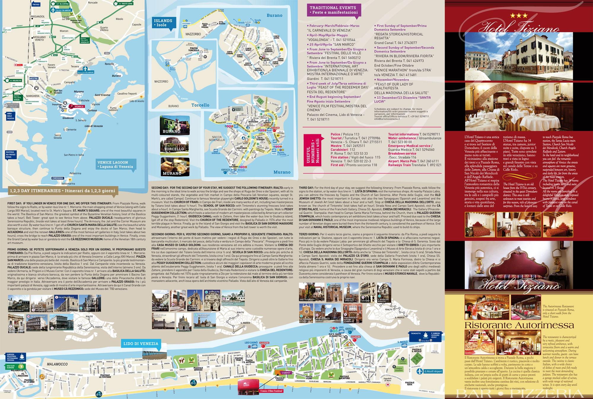 Mappa Liscia Hotel Tiziano Venezia