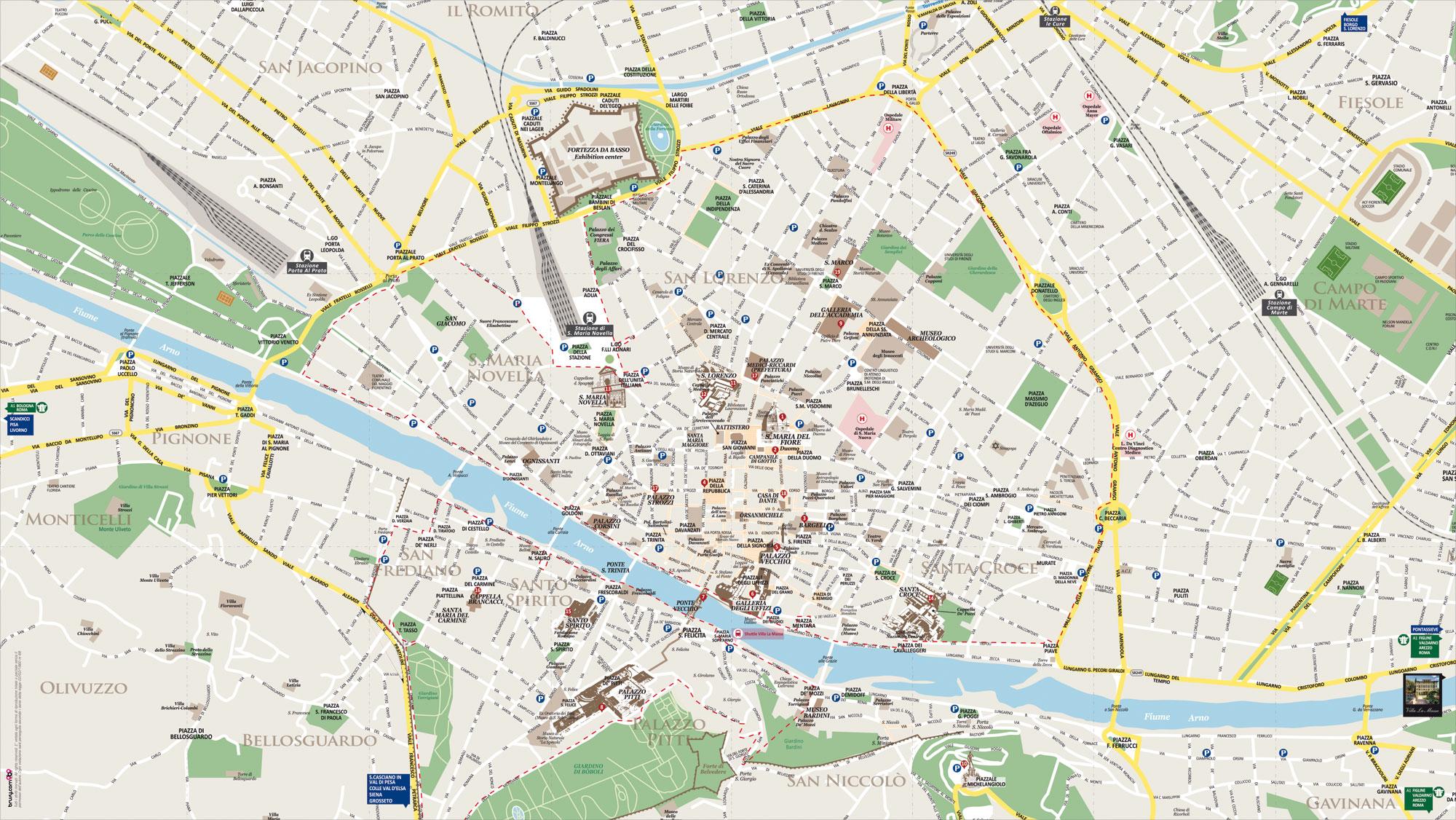 Mappa Tascabile Villa La Massa Hotel Firenze