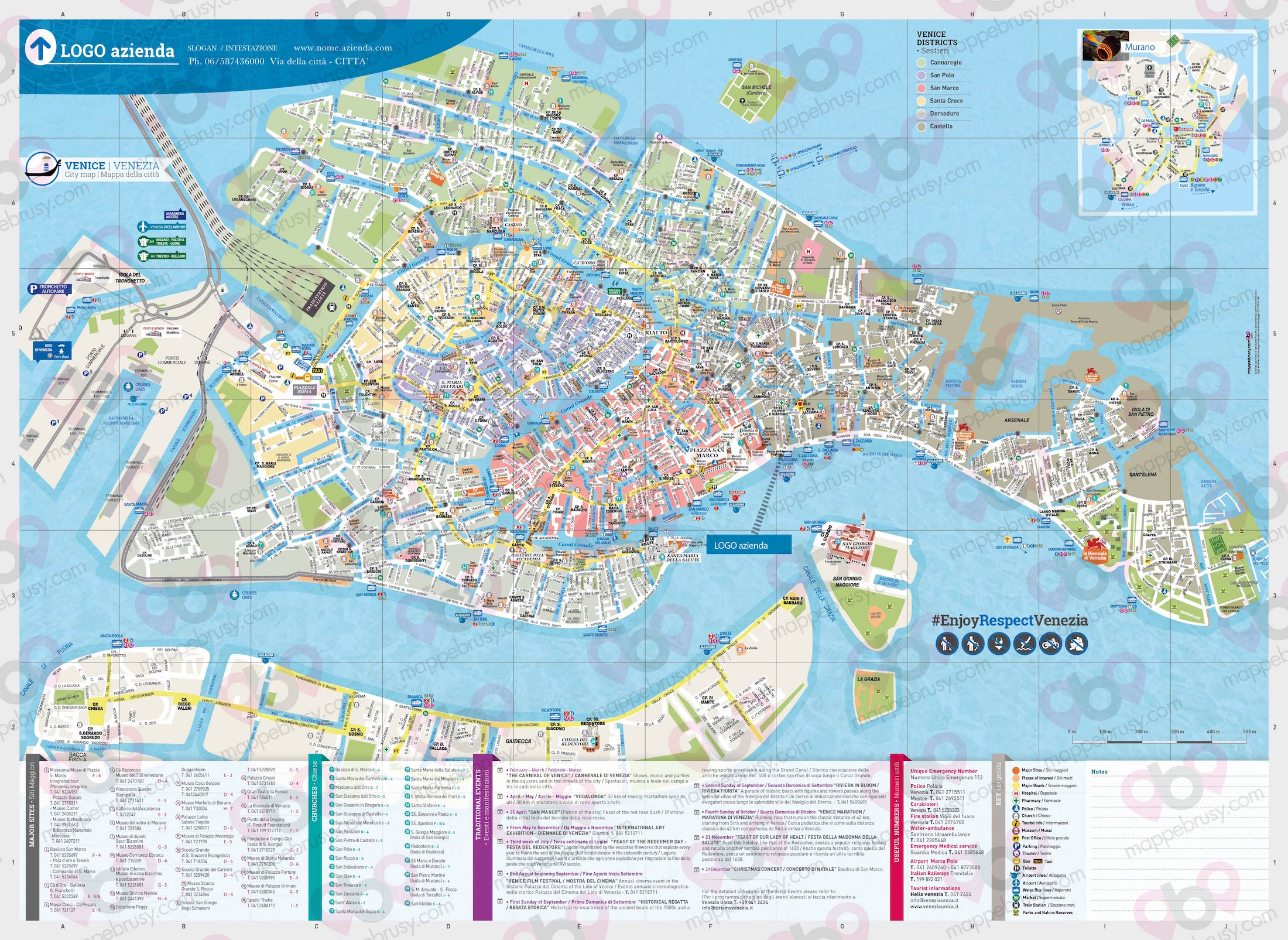 Acquista - compra - acquistare online - mappa di Venezia