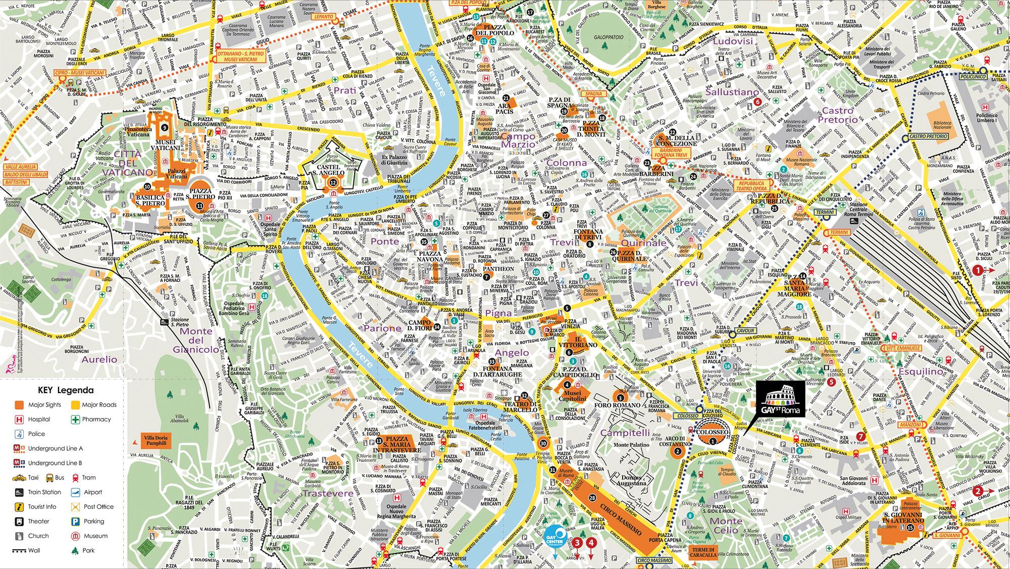 Cartina Di Roma Stampabile.Gay Street Mappa Brusy Personalizzata Mappa Di Roma