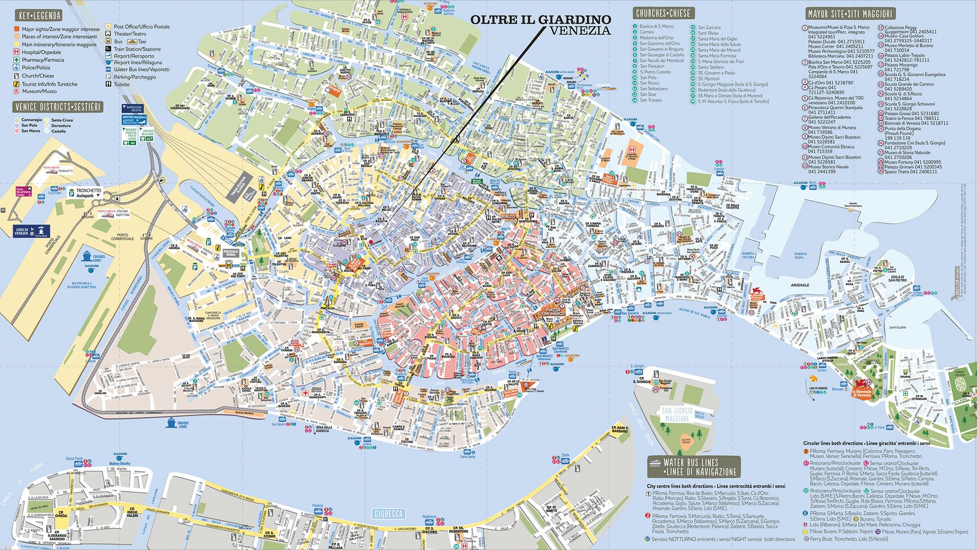 Oltre il giardino mappa brusy personalizzata mappa di venezia - Oltre il giardino venezia ...