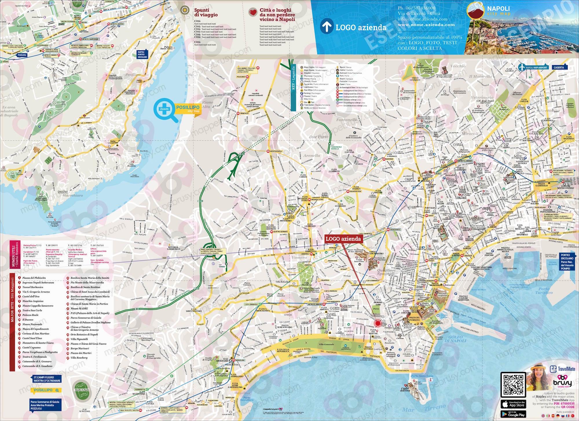 Mappa E Cartina Di Sardegna.Mappa Di Napoli Cartina Di Napoli Personalizzata