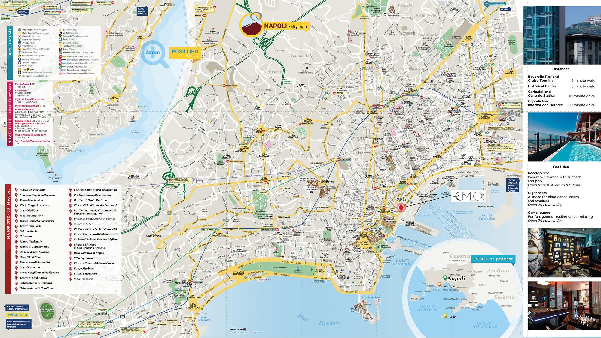Cartina Napoli.Romeo Mappa Brusy Personalizzata Mappa Di Napoli