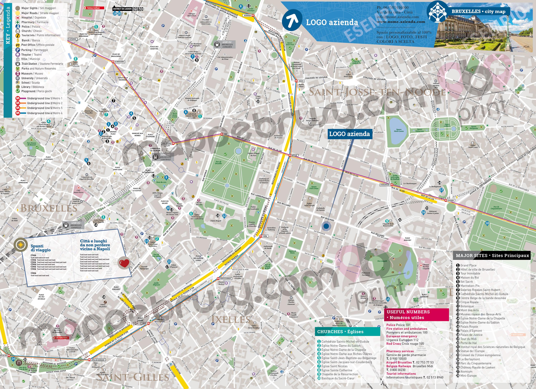 Cartina Di Firenze Con Tutte Le Vie.Mappa Di Bruxelles Cartina Di Bruxelles Personalizzata