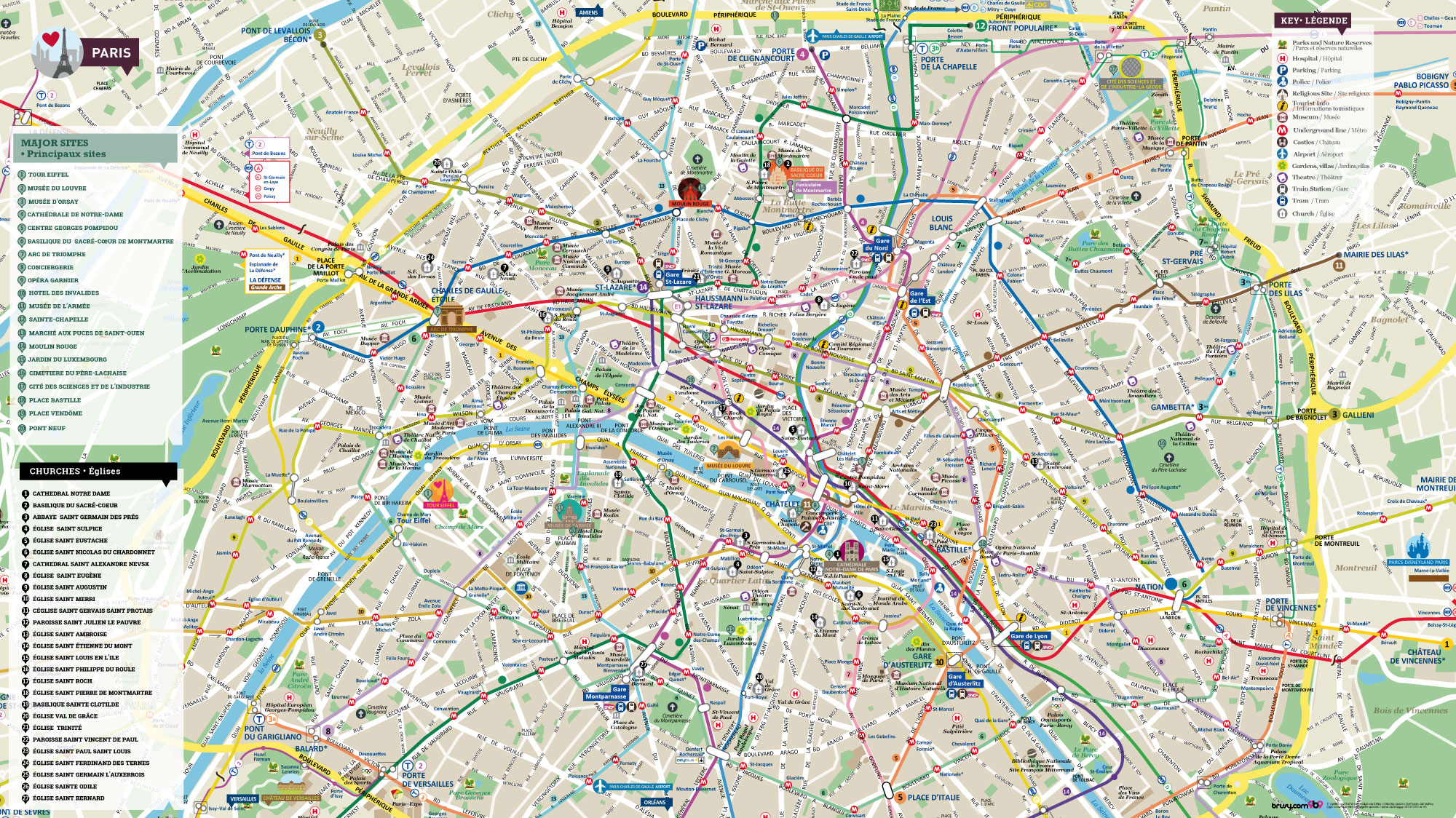 Halldis parigi mappa brusy personalizzata mappa di parigi for Parigi non turistica