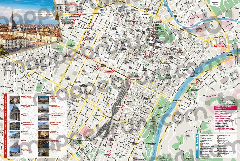 Acquista online, la Mappa personalizzata di Torino. Compra, acquista online, acquista, Cartine personalizzate, mappe.