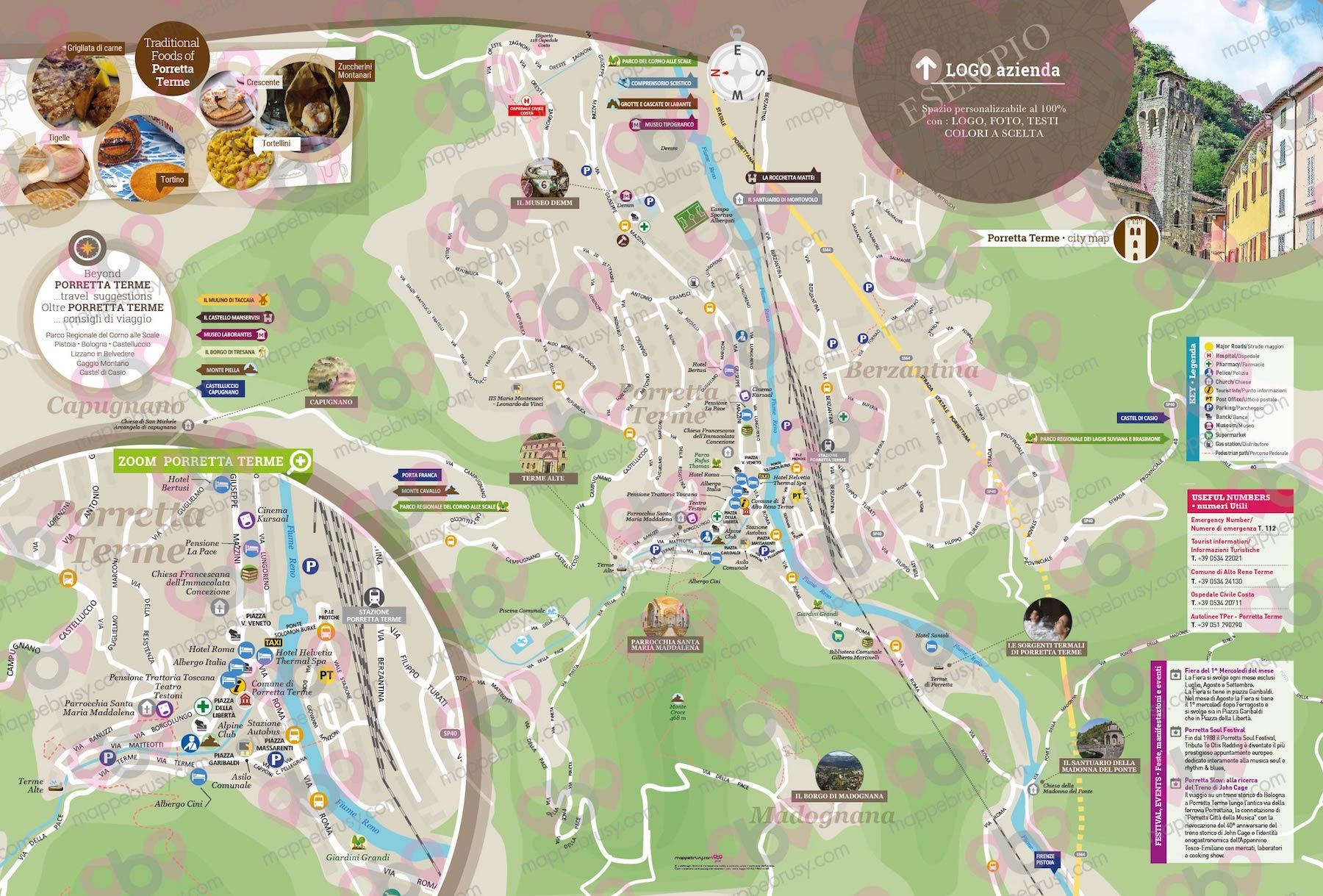 Mappa di Porretta Terme-Brusy©
